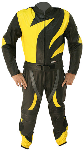 Skull Racer Motorbike Leather Suit - 3amoto