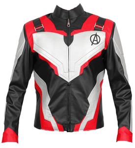 Avengers Endgame Quantum Realm Genuine Real Leather Jacket Red - 3amoto