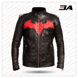 Batman Red and Black Leather Jacket