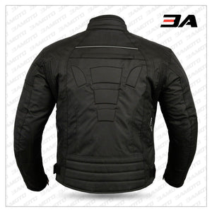 Black 6 Packs Design Motorcycle Jacket - 3A MOTO LEATHER
