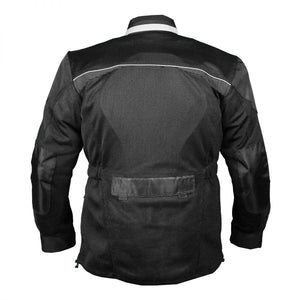 Black Cool Rider Motorcycle Mesh Jacket - 3A MOTO LEATHER
