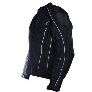 Black Summer Joy Mesh Motorcycle Jacket