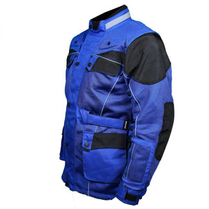 Blue Cool Rider Motorcycle Mesh Jacket