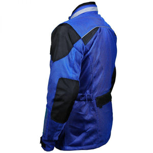 Blue Cool Rider Motorcycle Mesh Jacket - 3A MOTO LEATHER