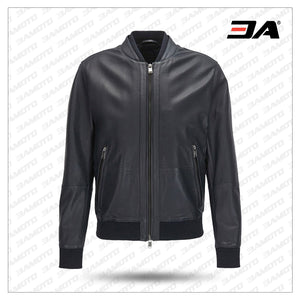 Bomber Jacket in Perforated Leather - 3A MOTO LEATHER