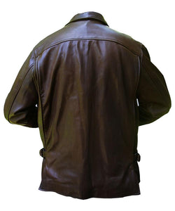 Brown Indy Leather Jacket - 3amoto