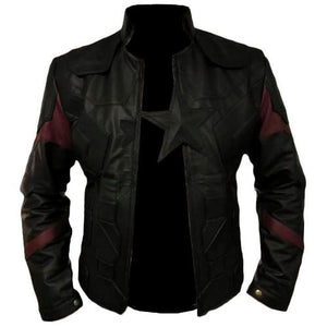 Captain America All Black Genuine Leather Jacket - 3amoto