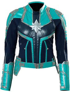 Captain Marvel Green Faux Leather Jacket - 3amoto
