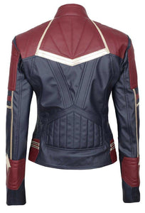 Avengers Endgame Captain Marvel Genuine Leather Jacket - 3amoto