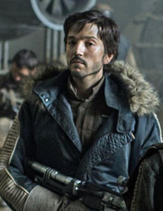 Captain Cassian Andor Parka Jacket Leather Rogue One - 3A MOTO LEATHER
