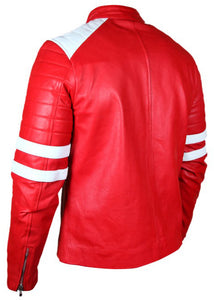 Fight Club Brad Pitt (Tyler Durden) Red And White Jacket - 3amoto