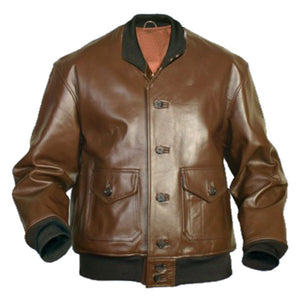 Flying A-1 Flight Leather Bomber Jacket - 3amoto
