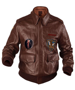 Flying Tigers Fighter A-2 Leather Jacket - 3amoto