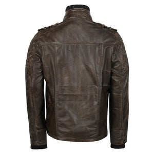 Genuine leather jacket, Classic motorcycle jacket, riding jacket, Light weight coat,