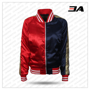 Property Of The Joker Harley Quinn Jacket Bomber Cosplay Costume Outfit