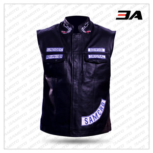 Jax Teller Vest Leather Motorcycle Sons Of Anarchy