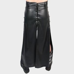 LONG HIP HUGGING LEATHER KILT FOR MEN