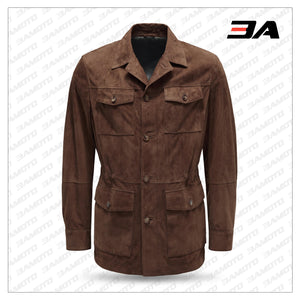 MEN'S BROWN SUEDE LEATHER JACKET