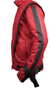 MICHAEL JACKSON RED THRILLER LEATHER JACKET - 3amoto
