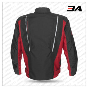 MATRIX RED/BLACK SPORT MOTORCYCLE JACKET BACK