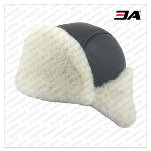 Men's Pilot Shearling Sheepskin Pilot Hat