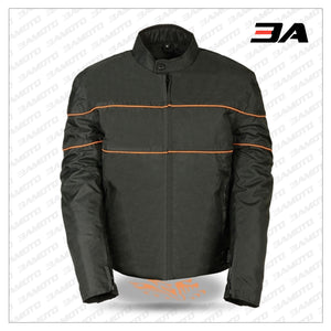 MENS TEXTILE MOTORCYCLE JACKET - VENTED