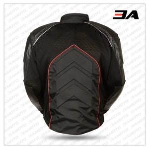 Mesh & Leather Red Body Armor Jacket Back