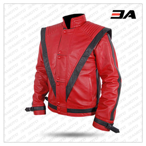 Michael Jackson Red Thriller Leather Jacket Costume