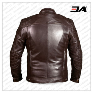 Mirage Motorcycle Leather Jacket Brown