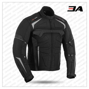 Black Motowizard Design Motorcycle Jacket - 3A MOTO LEATHER
