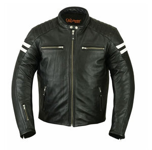 Retro Mens Leather Racer Jackets