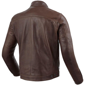 Brown Leather Bomber Motorcycle Jacket - 3amoto