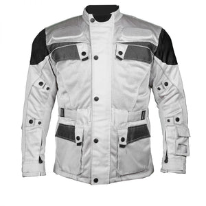 Silver Cool Rider Motorcycle Mesh Jacket