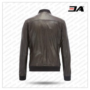Fashion Leather Bomber Jacket in Light Weight