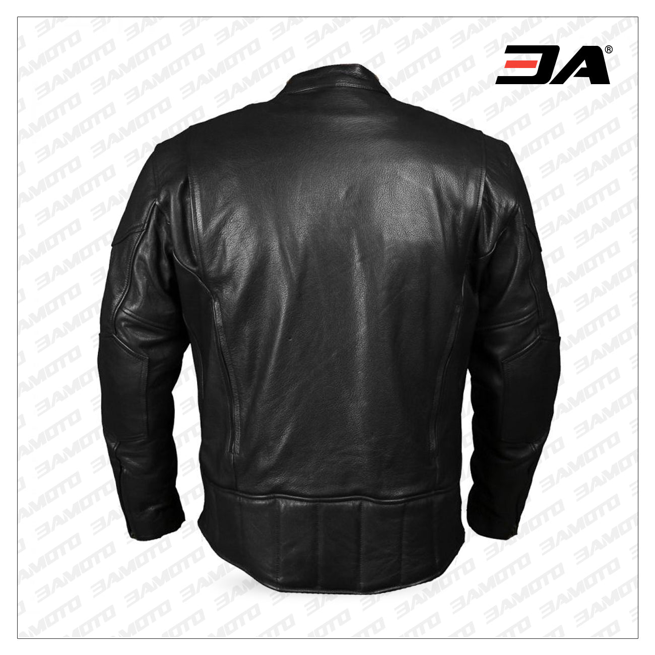 III-Fashions Mens Classic Cafe Racer Diamond Quilted Shoulders Biker Red Armored Slim Fit Motorcycle Leather Jacket