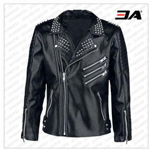 Studded jacket, Leather Jacket Men, Black Jacket, Mens Fashion, Handmade Jacket, Punk Style Mens - 3A MOTO LEATHER