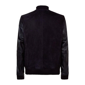 Boss Suede and Leather Bomber Jacket - 3amoto