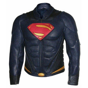 Superman Man Of Steel Genuine Real Leather Jacket - 3amoto