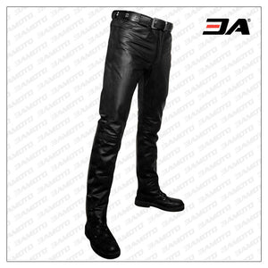 TOUGH AND POSH LEATHER PANTS FOR MEN