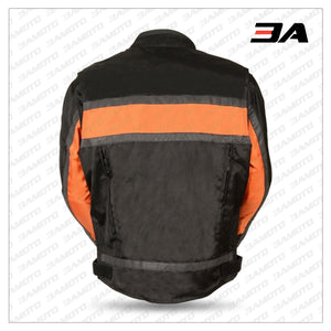 TEXTILE MEN'S RACER MOTORCYCLE JACKET BACK