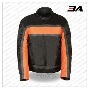 TEXTILE MEN'S RACER MOTORCYCLE JACKET