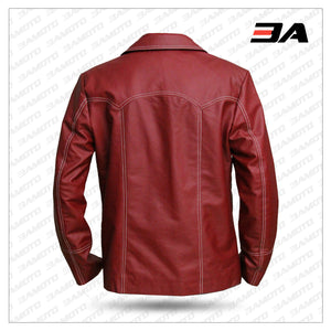 Tyler Durden Jacket Red Leather