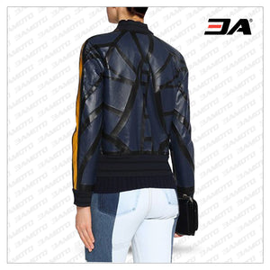 Fashion Printed Leather Jacket Women