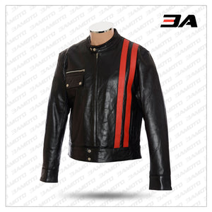 VICTOR FRANKENSTEIN SOFT BLACK LEATHER JACKET