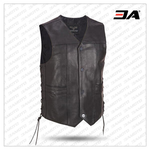 Wilsons Leather Performance Lace-up Motorcycle Leather Vest