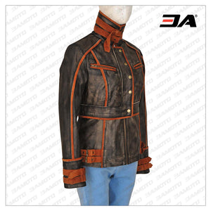 WOMEN RUFF BUFF LEATHER JACKET - 3A MOTO LEATHER