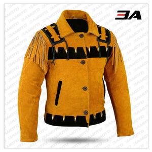 Western Leather Indian Western Carnival Fasching Jacket