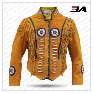Western Leather Western Indian Carnival Fasching Jacket