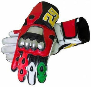 Andrea Iannone Motorbike Leather Racing Gloves - 3amoto