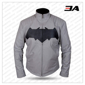 Batman Dawn Of Justice Grey Leather Jacket